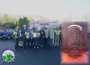 Killin Mountain Rescue Team with The Queens Award